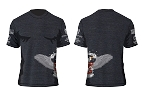 Coast 2 Coast Charity Ride Eagle Down Tee (Tri-Black) Men's