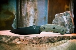Jackal Knife- Black Blade / OD Green Handle / OD Green Sheath